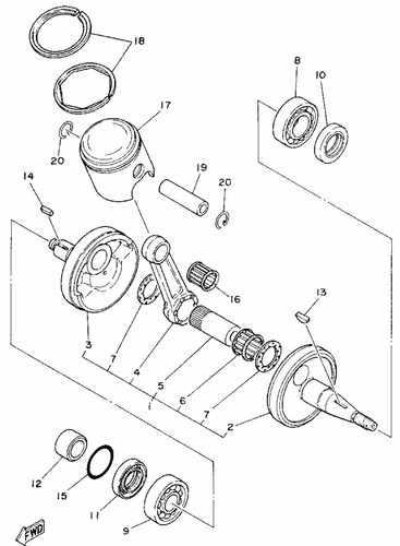 TY175 Crank Shaft & Piston Parts