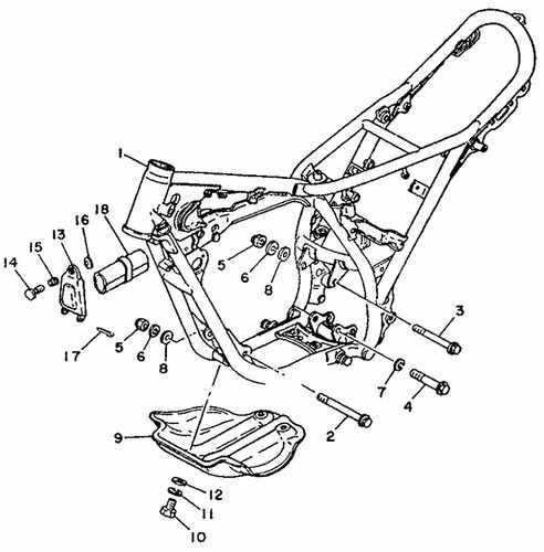 TY125 Frame Parts