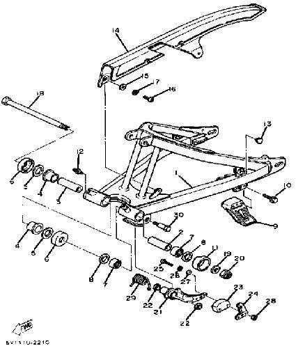 XT550 Swinging Arm Parts