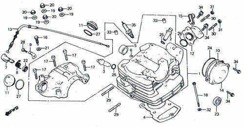 TLR200 Cylinder Head Parts
