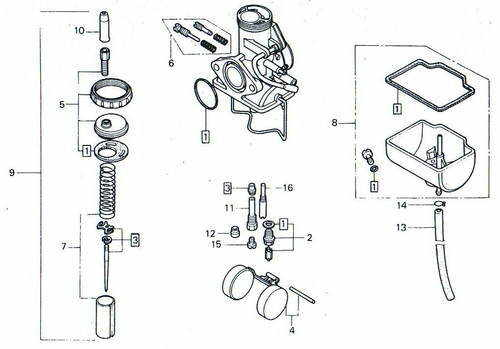 TLR200 Carb Parts
