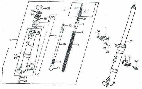 TLR200 Front Fork Parts