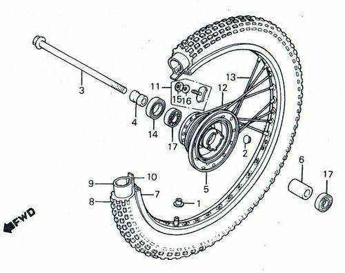 TLR200 Front Wheel Parts