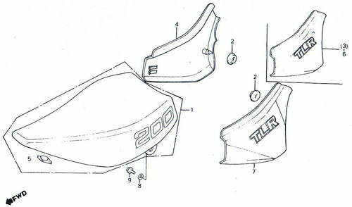 TLR200 Seat & Sidepanel Parts