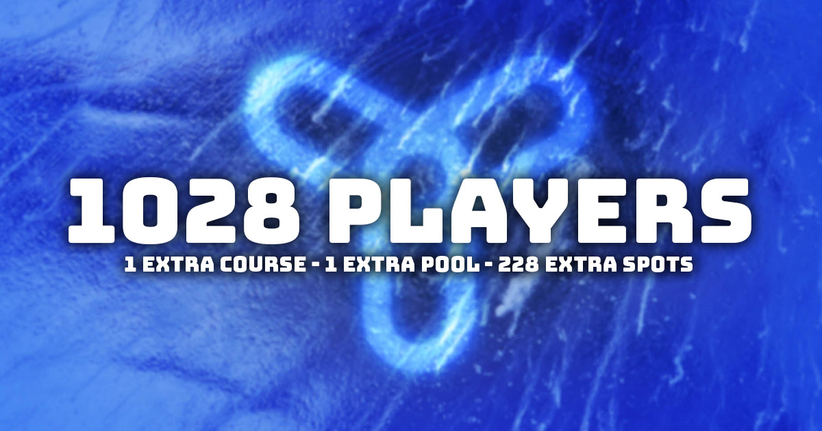 Extra pool, course and 228 spots more. Reaching over 1000 players.