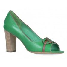 aabfe2a81d Γυναικεία Δερμάτινη Γόβα Πράσινη - Mexx