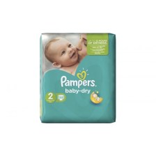Pampers Baby Dry No 2 (3-6Kg) - 33τμχ