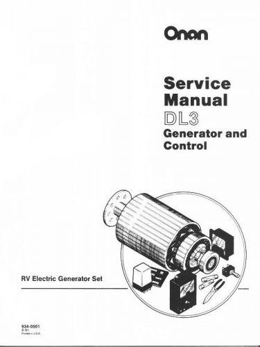 ONAN Marine MDL3 MDL4 MDL6 Generator Service Manual