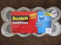 Scotch Shipping Packaging Tape Heavy Duty 3M 8 rolls BONUS ...