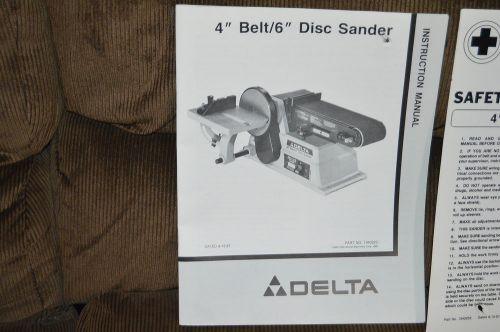 Delta Belt Disc Sander Manual