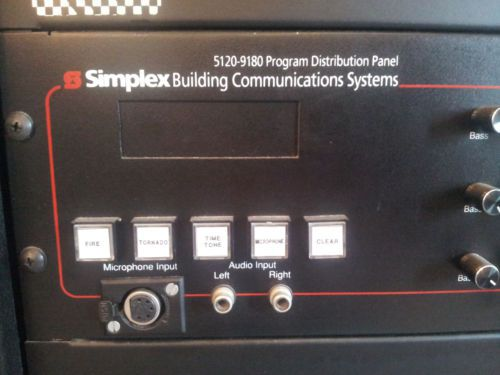 SIMPLEX 5120 5100 CENTRAL COMMUNICATIONS SYSTEM WITH