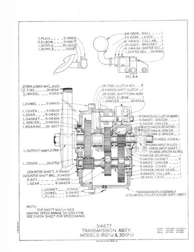 DoALL Model 1612U Band Saw Parts Manual *361