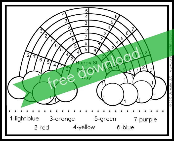 St Patricks Day Color By Number Printables