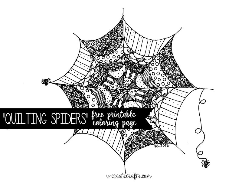 Quilting Spiders Pattern