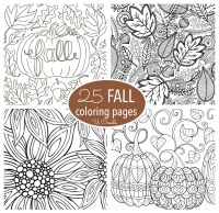 Free Fall Adult Coloring Pages - U Create