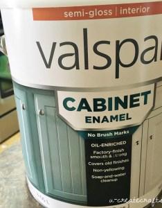 Valspar cabinet enamel paint also  create rh createcrafts