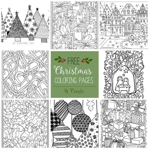 printable holiday coloring pages # 15