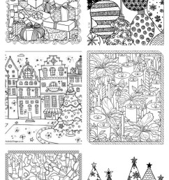 Free Christmas Adult Coloring Pages - U Create [ 2000 x 652 Pixel ]