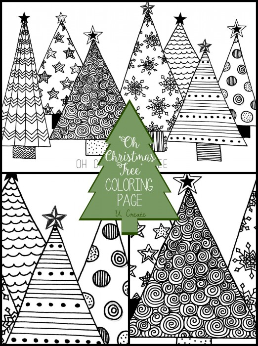 coloring pages christmas tree # 18