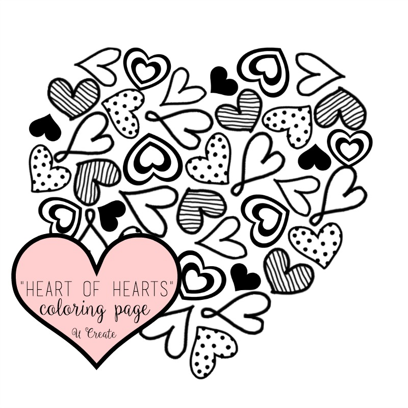 heart of hearts coloring