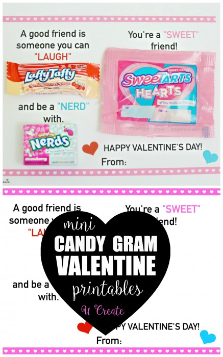Mini Candy Gram Valentine Printables U Create