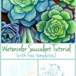 Diy Watercolor Succulents