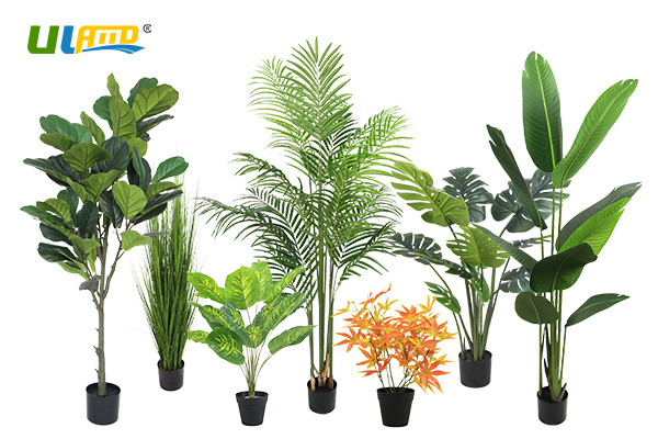 ULAND artificial trees in pots