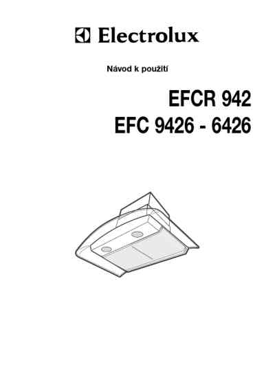 ELECTROLUX EFC 6426 X Cooker hood download manual for free