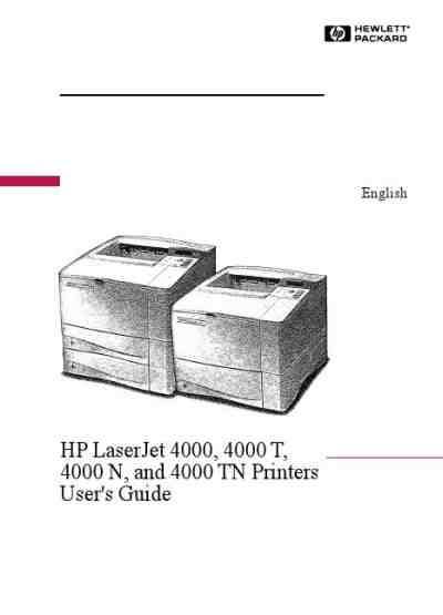 HP LASERJET4000 Printer download manual for free now