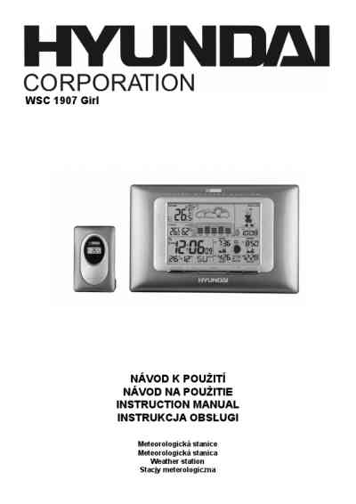 HYUNDAI WSC 1907 GG Weather stations download manual for