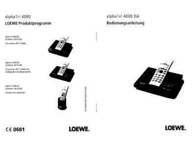 LOEWE ALPHATEL 4000 DA Mobile phone download manual for