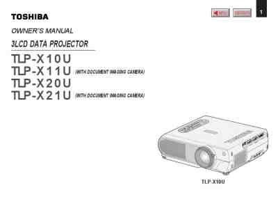 TOSHIBA TLP-X10U Projector download manual for free now