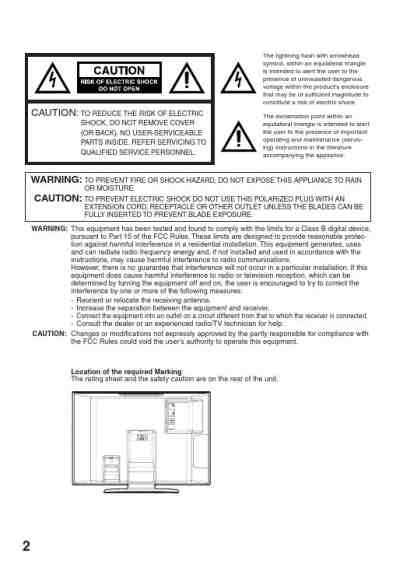 SANSUI HDLCD3200 TV/ Television download manual for free