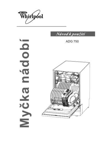WHIRLPOOL ADG 150 WH Dishwasher download manual for free