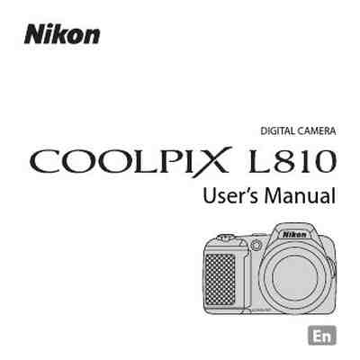 NIKON COOLPIX L810 The camera/ Camera download manual for