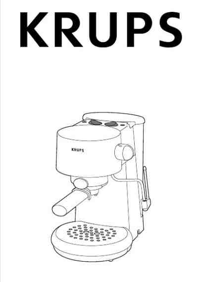KRUPS VIVO F 880 Coffee maker download manual for free now