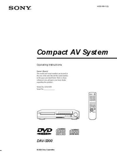 SONY HCD S300 Home theater download manual for free now