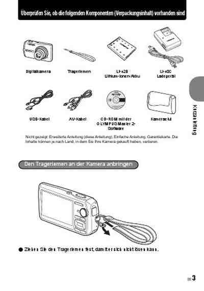 OLYMPUS STYLUS 1200 The camera/ Camera download manual for