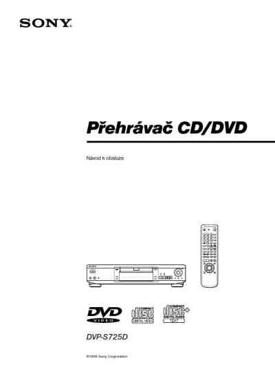 SONY DVP S725D DVD/ Blu-ray player download manual for