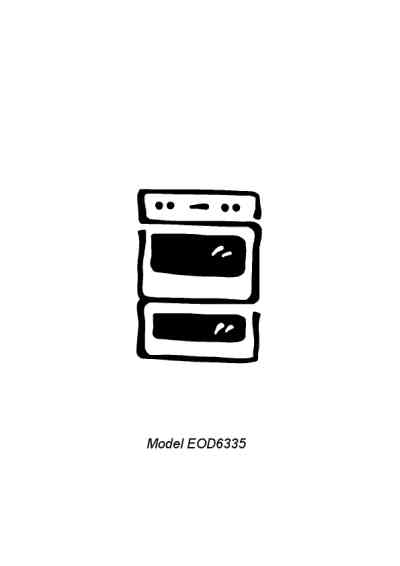 ELECTROLUX EOD6335K Oven download manual for free now