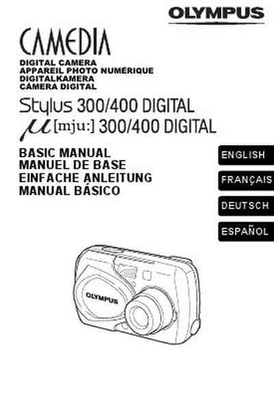 OLYMPUS MJU-20 DIGITAL BASIC MANUAL The camera/ Camera