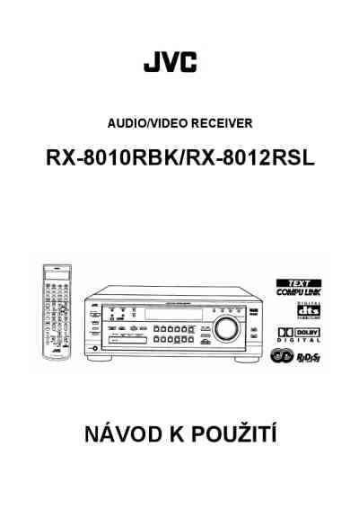 JVC RX 8010RBK Video Recorder download manual for free now