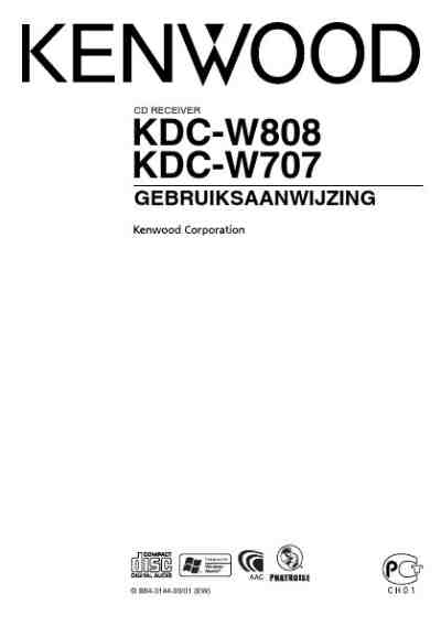 KENWOOD KDC-W707 Car radio download manual for free now