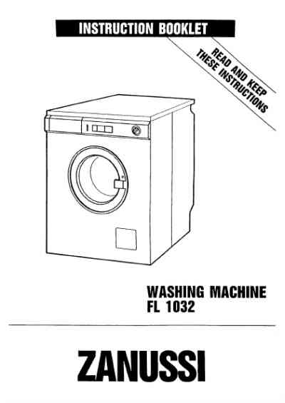 ZANUSSI FL1032B Washing machine download manual for free