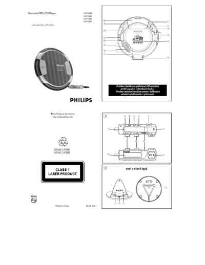 PHILIPS EXP 3462 MP3 player/ walkman download manual for