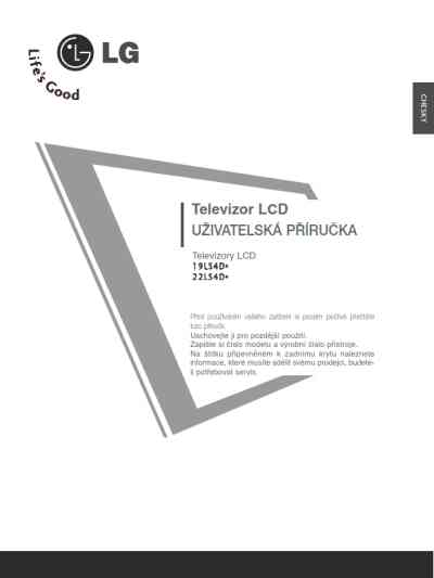 LG 19LS4D* TV/ Television download manual for free now