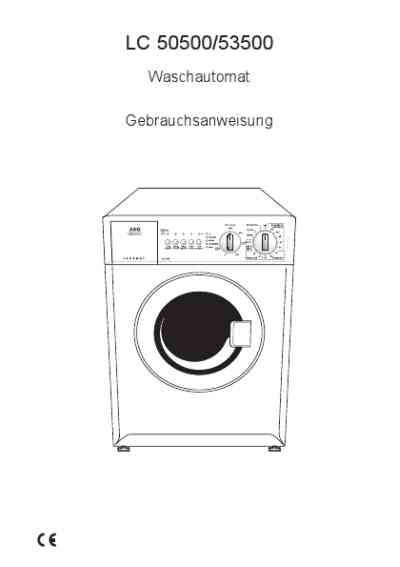 AEG-ELECTROLUX LC50500 Washing machine download manual for