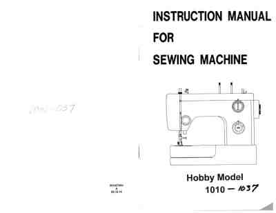 PFAFF HOBBY 1037 Sewing machine download manual for free