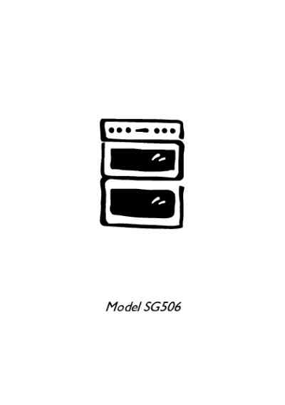 ELECTROLUX SG506XL Cooker/ stove download manual for free