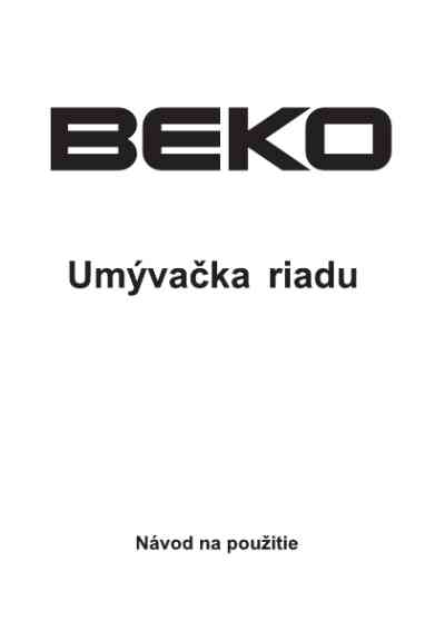 BEKO DFN 6830 Dishwasher download manual for free now